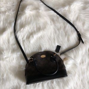 Authentic Coach Black and Brown Crossbody